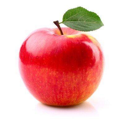 Póster Manzana madura con la hoja