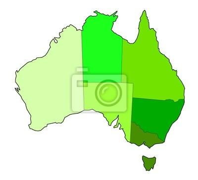 mapa de los estados australianos
