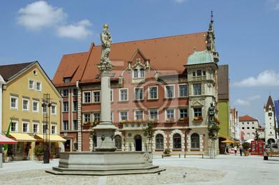 Marienplatz con el Ayuntamiento, Mindelheim
