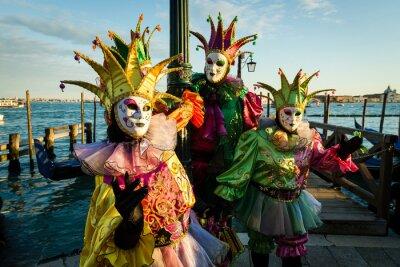 Póster Maschera Carnevale di Venezia