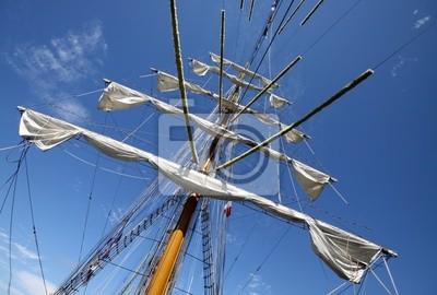 mât, voiles, vieux, voilier, bateau, bretaña