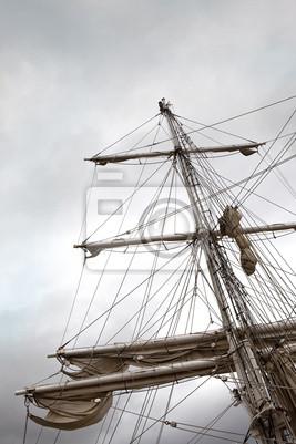 Mat, voilier, voile, bateau, navire, navegación, croisière, mer