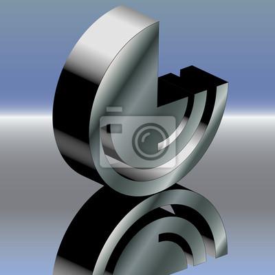 Póster Metal g