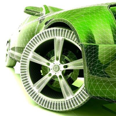 Póster Mi propio diseño del coche 3D