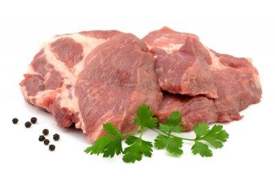 Póster Mięso wieprzowe karkówka