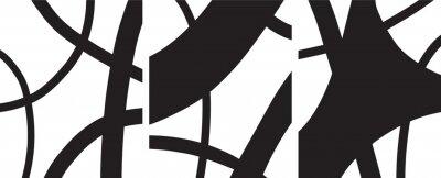 Póster minimalist Organic abstract art mid century modern style black and white artwork templates vector set