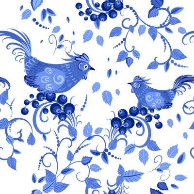 Póster moda textura transparente con flores estilizadas