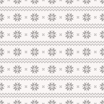 Póster Modelo inconsútil del noruego. Conjunto de vectores.