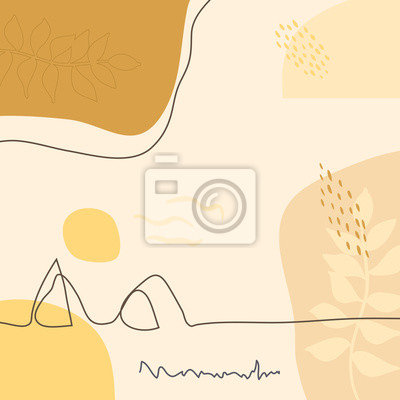 Póster Modern abstract mountains art vector background