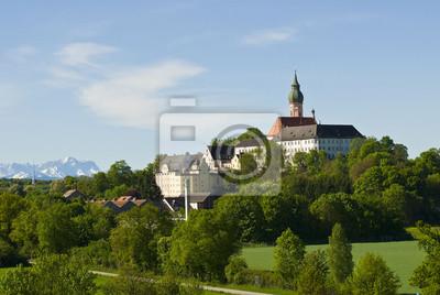 Monasterio Andechs hace Alpes