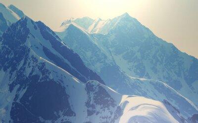 Póster Montañas altas del Cáucaso