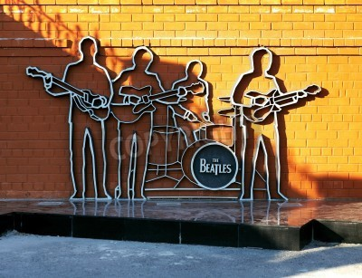 Póster Monumento a Los Beatles en Ekaterinburg, Rusia