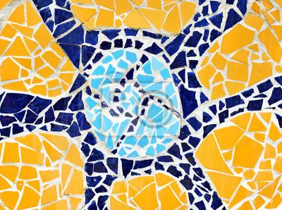 Mosaico Pared Decorativo Ornamento Cerámica Roto