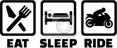 Moto. Coma el paseo del sueño.