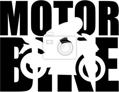 Moto, palabra, corte, silueta