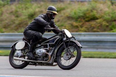 Póster Motocicleta histórica en el circuito de Masaryk Brno