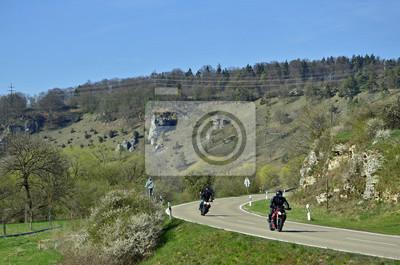 Motociclista en Altmühltal