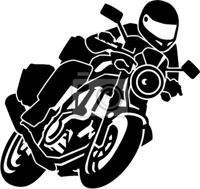 Motociclista en moto
