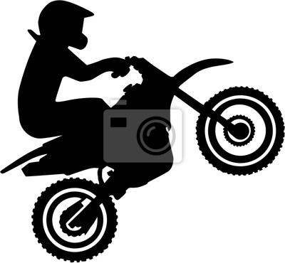 Motocross conductor silueta