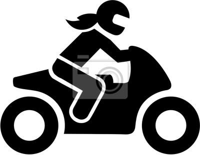 Motorbike mujer conductor icono
