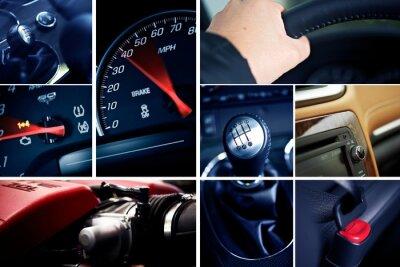 Póster Motorización Mosaico-Collage