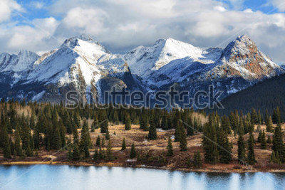 Póster Mountain Landscape in Colorado Rocky Mountains, Colorado, United States.