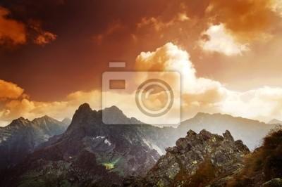 Mountains sunset paisaje