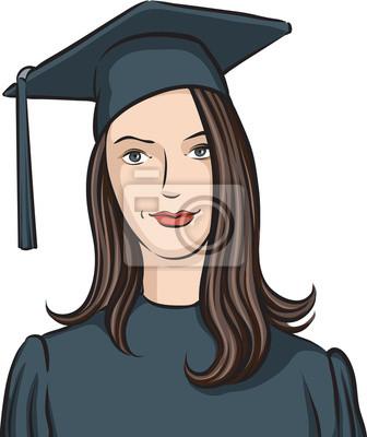 Muchacha Graduada Carteles Para La Pared Pósters Hermosa