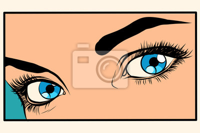 Muchacha hermosa de los ojos azules