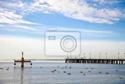 Muelle de la mañana. Orlowo, Polonia.