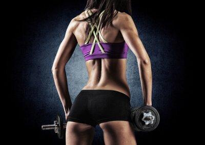 Póster Mujer de la aptitud deportiva en el entrenamiento