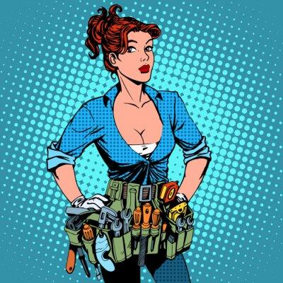 Mujer trabajando reparador electricista