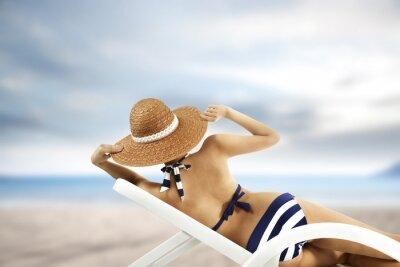 Póster Mujer y bikini