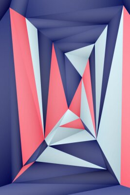 Póster Multi-color geometric triangular low poly abstract background. Creative illustration in halftone style with gradient. Triangular pattern for your business design.