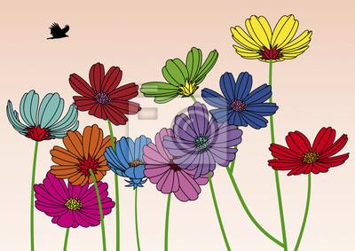 Multicolores Fleurs