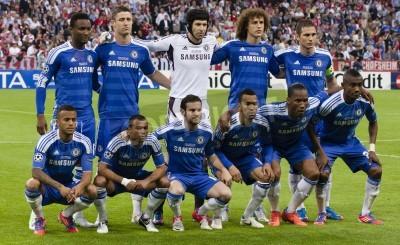 Póster MUNICH, 19 de mayo - Equipo de Chelsea: ante el FC Bayern Munich vs. Chelsea FC en la UEFA Champions League final en Allianz Arena el 19 de mayo de 2012 en Munich, Alemania.