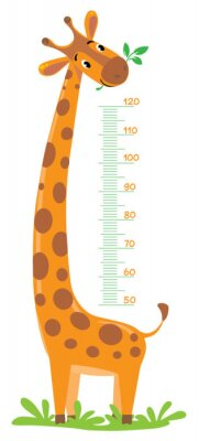 Póster Muro del medidor de la jirafa