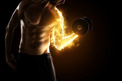 Póster Músculos Burning