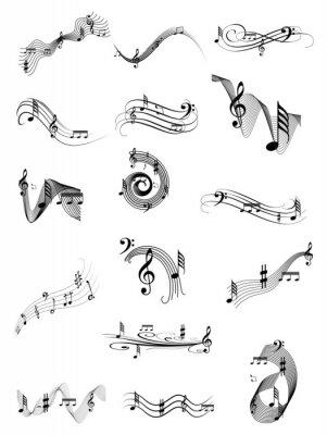 Póster Música conjunto de remolino