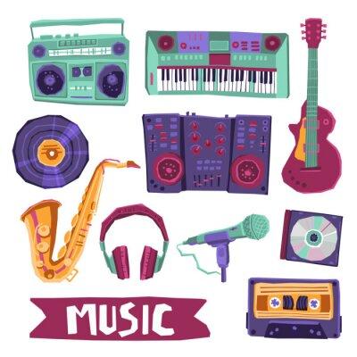 Póster Música Icon Set
