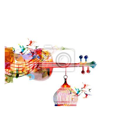 5f3ea80e608e9 Póster Música plantilla ilustración vectorial