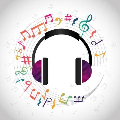 Póster Música y Diseño de sonido