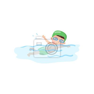 d6b1cb0a3 Póster Nadador de niño pequeño en la piscina