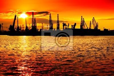 Naranja industria Sunset