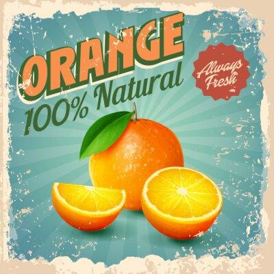 Póster naranja vintage