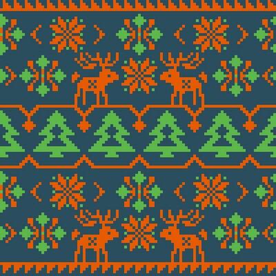 Póster Navidad y invierno patrón sin costura de punto
