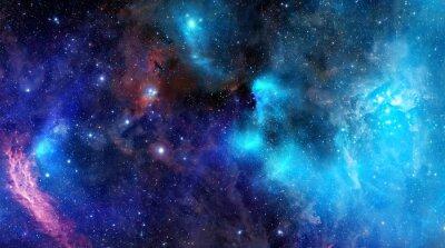 Póster nebulosa nube de gas en el espacio exterior profundo