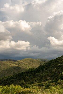 Nice landscape with overcast sky in Brazil