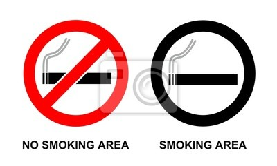 No fumar y fumar signo