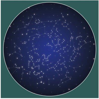 Póster Northern hemisphere constellations